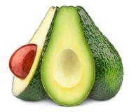 авокадоы изолировали 3 Стоковые Фото