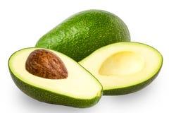 Авокадоы на белой предпосылке Стоковое Изображение RF