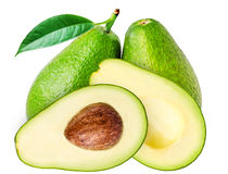 Авокадоы на белой предпосылке Стоковая Фотография