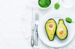Авокадо испеченный с яичком Стоковая Фотография RF