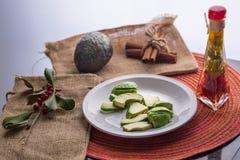 Авокадо и завтрак Стоковая Фотография