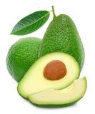 2 авокадо и куски Стоковые Фотографии RF