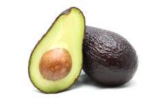 Авокадо на белой предпосылке Стоковые Изображения