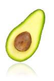 Авокадо половинный с стерженем Стоковое Изображение