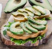 Авокадо sandvish Стоковые Изображения RF