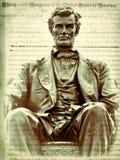 Авраам Линкольн и манифест Линколььаа об освобождении рабов Стоковая Фотография RF