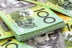 Австраец 100 счетов доллара стоковое изображение