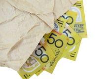 Австралиец 50 примечаний доллара Стоковая Фотография RF