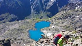 Австралии Высокогорное ` Stubai ` зоны ` Rinnensee ` озера гор стоковые фото