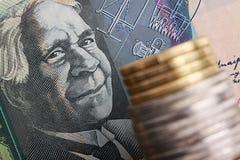 австралийская валюта Стоковая Фотография