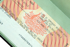 австралийская виза Стоковое Фото