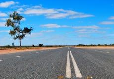 австралийская дорога bush стоковые изображения