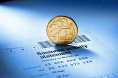 Австралийская монетка доллара налогов на коммерческую деятельность Стоковые Фотографии RF