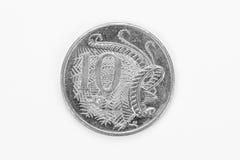 австралийская монетка 10 цента стоковая фотография rf