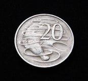 австралийская монетка 20 цента Стоковое Фото