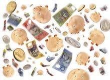 австралийские деньги задолженности бюджети Стоковая Фотография