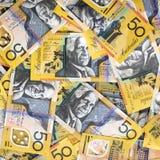 австралийские деньги предпосылки Стоковое Изображение