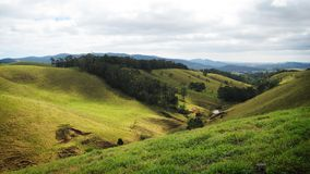 австралийские зеленые холмы Стоковые Изображения RF