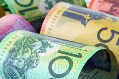 австралийские деньги предпосылки Стоковое Изображение RF