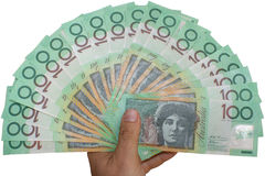 австралийские деньги Стоковые Фотографии RF