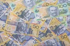 Австралийский конец-вверх валюты стоковое изображение rf