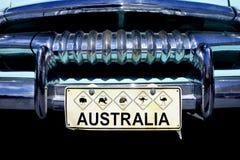 Австралийский номерной знак значков живой природы стоковое фото