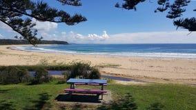 Австралийский пляж угорь береговой линии стоковая фотография rf