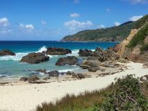 Австралийский пляж Burgess береговой линии стоковое изображение rf