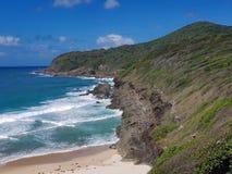 Австралийский пляж Burgess береговой линии стоковые изображения rf