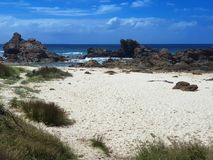 Австралийский пляж Burgess береговой линии стоковые изображения