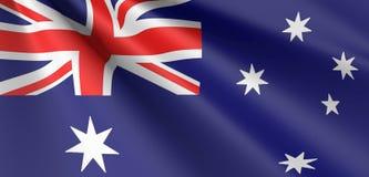 Австралийский развевать флага иллюстрация штока