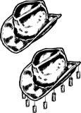 австралийский тип шлема ковбоя традиционный иллюстрация вектора