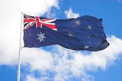 австралийский флаг Стоковое фото RF