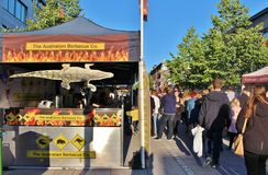 Австралийское барбекю на международном уличном рынке Стоковое Фото