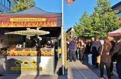 Австралийское барбекю на международном уличном рынке Стоковое фото RF