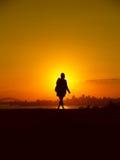 Австралия над заходом солнца Сиднеем Стоковые Фотографии RF