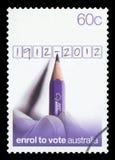 АВСТРАЛИЯ - Печать почтового сбора стоковая фотография rf