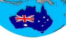 Австралия с флагом на глобусе бесплатная иллюстрация