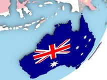 Австралия с флагом иллюстрация вектора