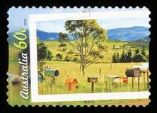АВСТРАЛИЯ - штемпель почтового сбора стоковая фотография