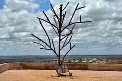 Австралия, Coober Pedy, скульптура Стоковое Изображение