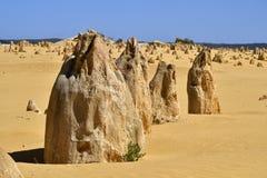 Австралия, WA, башенкы в национальном парке Nambung Стоковые Изображения RF