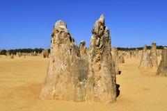 Австралия, WA, башенкы в национальном парке Nambung Стоковая Фотография