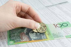 Австралийская валюта Стоковые Изображения