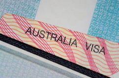 австралийская виза Стоковое фото RF