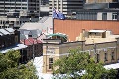 Австралийская гостиница, утесы - Сидней Стоковая Фотография RF