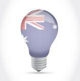 Австралийская иллюстрация электрической лампочки идеи флага Стоковое Изображение