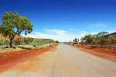 австралийская дорога захолустья Стоковые Фотографии RF