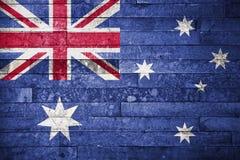 Австралийская предпосылка флага Стоковая Фотография