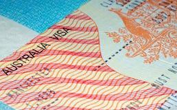 Австралийская проживающая иммиграционная виза Стоковое Фото